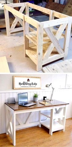 Here are 20 of the BEST old Furniture Makeover Ideas you have to see for yourself Woodworking Desk Plans, Easy Woodworking Projects, Woodworking Classes, Unique Woodworking, Woodworking Patterns, Desk Plans Diy, Woodworking Store, Popular Woodworking, Woodworking Beginner