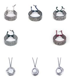 Brand new collection from Kolton Babych. Gauntlet Bracelets and Wax Drop Pendants.