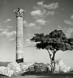 Athens. Temple of Olympian Zeus. 1937. Herbert List