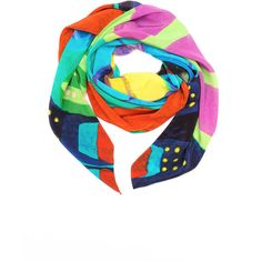 SO KLARA - Riviera Silk Scarf (402 AUD) ❤ liked on Polyvore featuring accessories, scarves, patterned scarves, silk scarves, green scarves, blue shawl and pure silk scarves