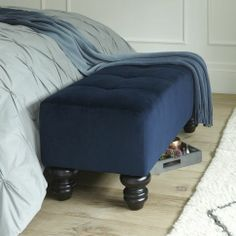 Essex Upholstered Bench from west elm #colorcrush