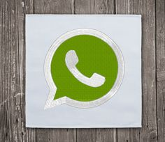 WhatsApp logo- Embroidery Design Instant Download #EmbroideryDownloadCom