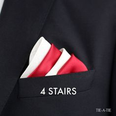 How to Fold your pocket square with the four stairs fold