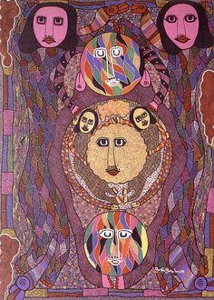 Erzulie goddess of love and war by Haitian artist Prospere Pierre Louis