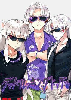 Inuyasha- Inuyasha, Sesshomaru, and their father #Anime