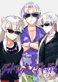 Inuyasha- Inuyasha, Sesshomaru, and their father #Anime