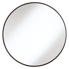 "Round Wood Trimmed 34"" Wide Wall Mirror - #91208 