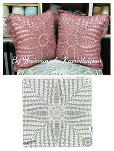 Photo from album Crochet Ripple, Crochet Lace Edging, Crochet Fox, Crochet Diagram, Crochet Squares, Crochet Doilies, Crochet Pillow Patterns Free, Crochet Bikini Pattern, Crochet Cushion Cover