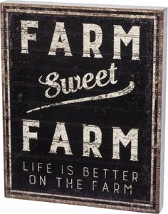 Sweet Farm Wall Sign
