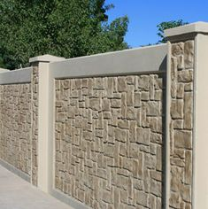 Texture Gallery - View Our Textured Precast Concrete Fences And Walls Concrete Fence Wall, Concrete Forms, Concrete Texture, Precast Concrete, Brick Wall, Concrete Walls, Fence Wall Design, Exterior Wall Design, Main Gate Design