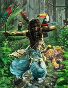 """walmirsarchanjo: """"Oxóssi (Òsóòsi) is the hunting god, lord of the forest and of all the beings that inhabit it, orixá of the abundance and wealth. At present the worship of Oxóssi is practically forgotten in Africa, but it is widespread in Brazil,..."""