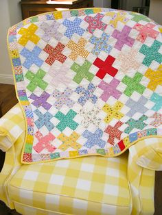 Baby or Child Reproduction 1930's Quilt Free by QuiltAttic on Etsy, $110.00
