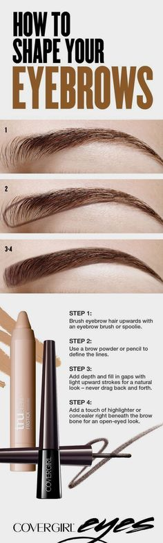The best infographic tutorial on how to shape your eyebrows! More useful beauty tips at #classicaandlillie