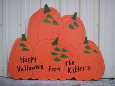 PILE OF PUMPKINS ~ Fall * Halloween Yard Art Decoration