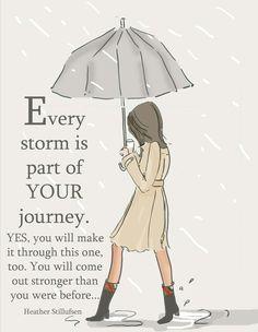 Storm part of journey