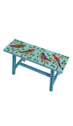 Painted bench - Sky blue - Seconds - Plümo Ltd