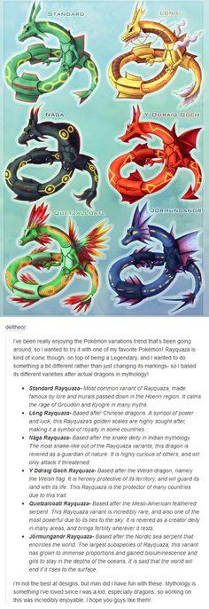 Rayquaza Variations Based on Mythology