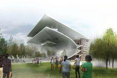 Daegu Gosan Biblioteca Pública de entrada de concorrência / Por que Architecture & Design
