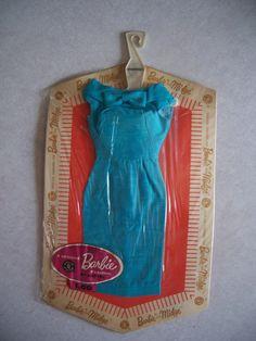 Vintage Barbie Blue Silk Sheath Dress - NRFP