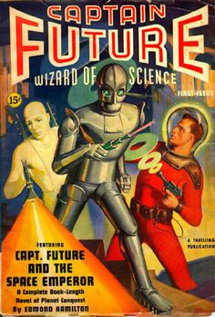 Captain Future pulp magazine cover
