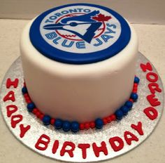 What better way to spend a birthday than a Jays game on Saturday (sorry they lost) and a Blue Jays birthday cake to help celebrate on Sunda. Baseball Birthday Party, Sports Birthday, 40th Birthday Parties, Birthday Cake, 7th Birthday, Birthday Ideas, Sport Cakes, Toronto Blue Jays, Cocktails