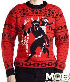 Combate el meloso espíritu navideño con estos suéteres satánicos « Pijamasurf - Noticias e Información alternativa