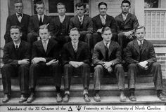 Fraternity at University of North Carolina in the 1920s