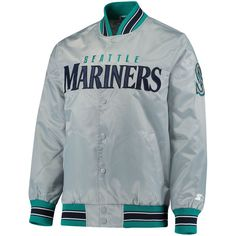 NHL Mens The Closer Satin Full Snap Jacket
