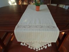 Check out this item in my Etsy shop https://www.etsy.com/listing/261857171/sale-cotton-table-runner-crochet-table