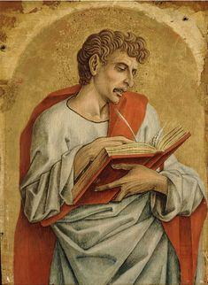 566. Carlo Crivelli - Polittico di Montefiore dell'Aso - San Giovanni evangelista - 1471 - Detroit, Detroit Institute of Arts