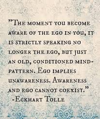 The power of simple AWARENESS diminishes ego and opens me to possibilities to which I had been clueless. It's paradoxical that something so powerful as ego can be diminished with something so simple as awareness. The Words, Ego Quotes, Life Quotes, Quotes About Ego, Soul Quotes, Spiritual Awakening, Spiritual Quotes, Ekhart Tolle, Image Positive