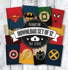 Printable Art Comic Book Superhero Art Print by TheRetroInc