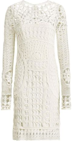 Ralph Lauren Crocheted Silk Tunic Dress