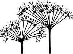 NDC Cow Parsley Clear Stamp Collages D'images, Cow Clipart, Cow Parsley, Flower Circle, Whimsy Stamps, Free Stencils, Tree Silhouette, Free Prints, Linocut Prints