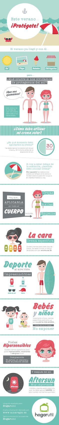 Infografía cremas sol verano #infografia #cremasolar #verano