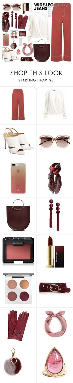"""""""Senza titolo #6992"""" by waikiki24 ❤ liked on Polyvore featuring Topshop, Witchery, Kate Spade, Future Glory Co., NARS Cosmetics, Kevyn Aucoin, MAC Cosmetics, Ann Taylor, Tory Burch and Salvatore Ferragamo"""