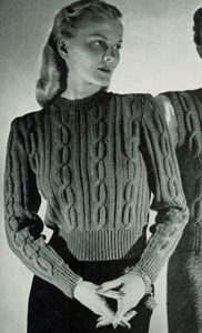 NEW! Pullover knit pattern from Jack Frost, Volume No. 53, originally published in 1951.