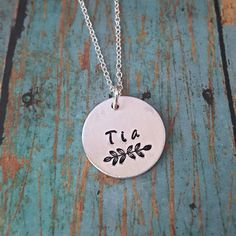 Tia Necklace  Tia  Gift for Tia  Favorite Tia  by tagsandthingsbyk