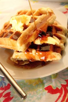 Buttermilk Waffles | The Curvy Carrot Buttermilk Waffles | Healthy and Indulgent Meals Dangling in Front of You