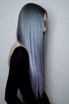 Aunque también se ve bonito liso: | 17 Fotos que te darán ganas de teñirte el pelo de gris