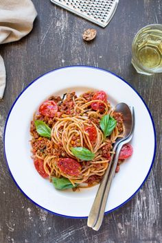 Vegan pasta alla bolognese is a plant-based version of this popular Italian dish. It's filling and full of protein yet way healthier than the original.