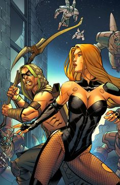Green Arrow and Black Canary by Mike S. Miller