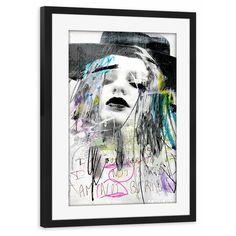 """artboxONE Poster mit Rahmen 30x20 cm Abstrakt Collage """"somethingintheair"""" weiß…"""