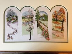 Four seasons counted cross stitch by Lynn Hoffman