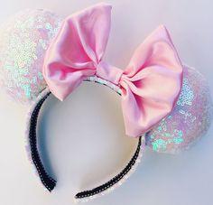Pink Iridescent Satin Ears