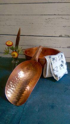 Vintage Copper Flour or sugar scoop/ by VintageBrassRevival