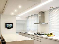 iluminação para cozinhas