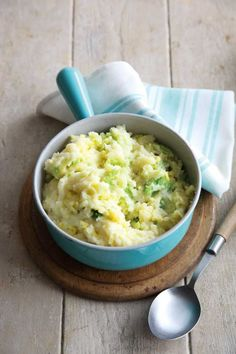 Roasted Garlic Colcannon, a traditional Irish dish made from mashed potato and cabbage or kale.