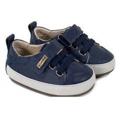 1f0943a44857f Tênis infantil azul marinho com abertura em velcro - Gambo Chaussures De  Bébé