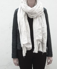 Light grey scarf on Etsy, $103.84 CAD organic cottons #fabric #accessories & more here #Etsy @Etsy #decor #EtsyShops #EtsyStyle